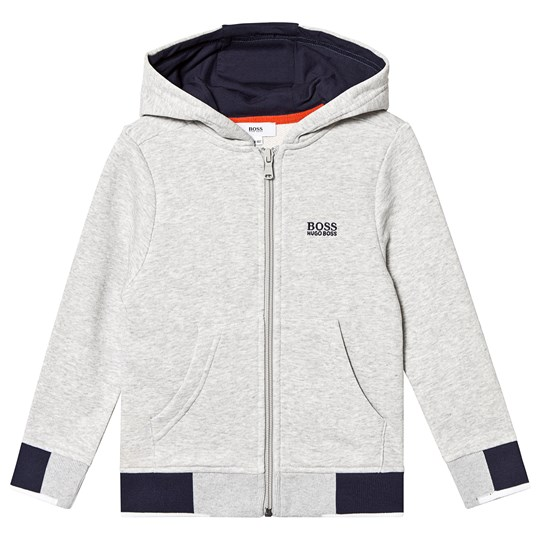 BOSS Grey and Navy Branded Hoodie A07