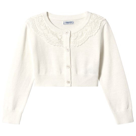 Mayoral Off White Lace Collar Cardigan 76