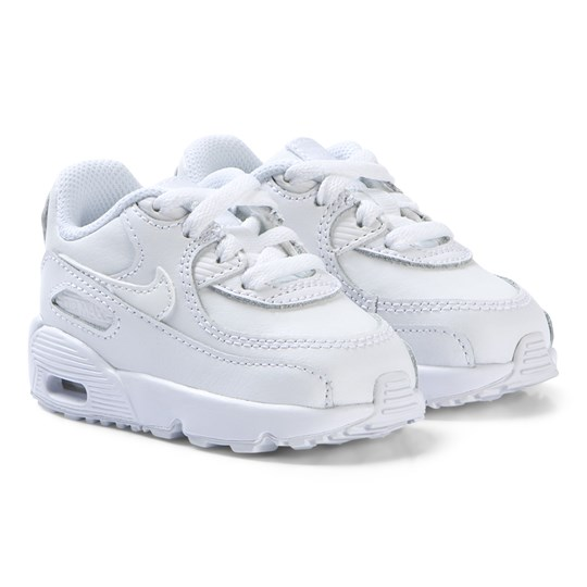 reputable site 911e3 ed7b9 NIKE White Nike Air Max 90 Leather Infants Sneakers 100