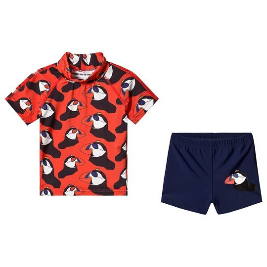 Gardner and the gang Berta The Bird Swim Set Red Red
