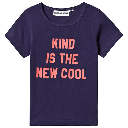 Gardner and the gang Kind Is The New Cool Tee Purple Blue