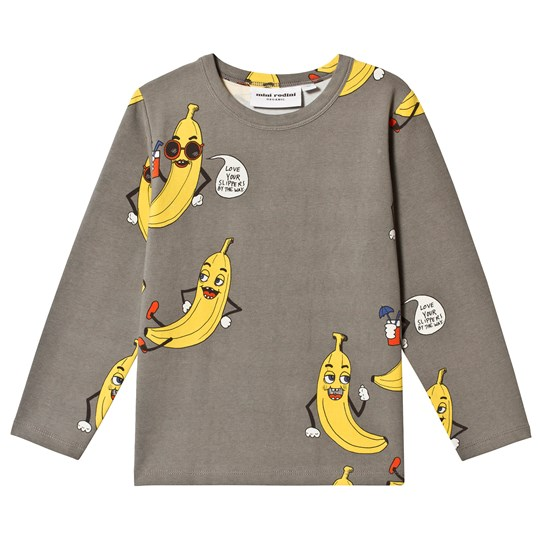 Mini Rodini Exclusive Banana Tee Grey Black