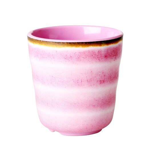 Rice Melamine Cup Pink Swirl Pink
