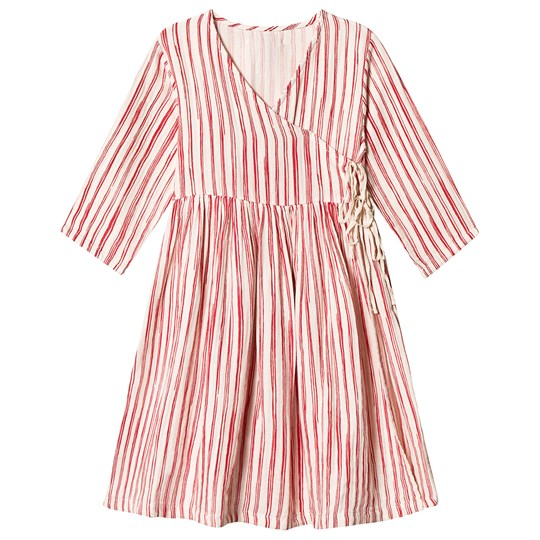 Little Creative Factory Bamboo Wrap Dress Red Stripe Red Stripe