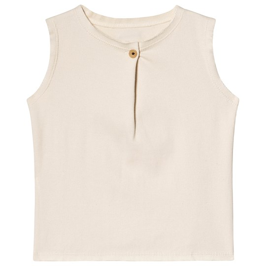 Little Creative Factory Ribbed Zen Tank Top Chalk Off white