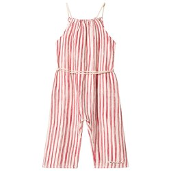Little Creative Factory Bamboo Jumpsuit Red Stripe