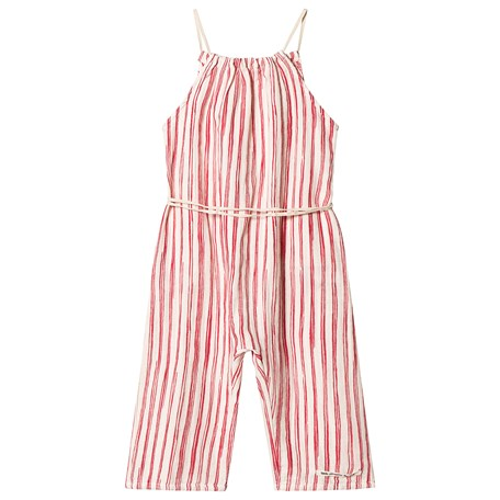 b71d84b6f60f Little Creative Factory. Red and White Bamboo Striped Jumpsuit