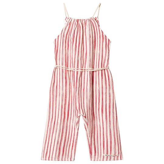 Little Creative Factory Bamboo Jumpsuit Red Stripe Red Stripe