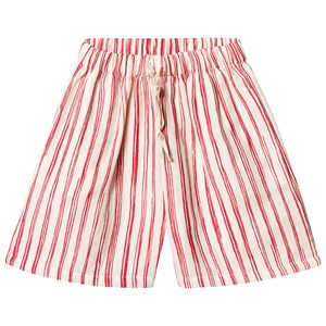 Image of Little Creative Factory Bamboo Stripe Shorts Rød/Hvid 10 years (3125308113)