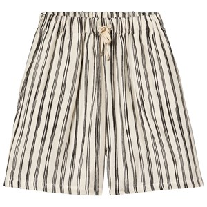 Image of Little Creative Factory Bamboo Stripe Shorts Sort/Hvid 10 years (3125308255)