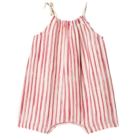 Little Creative Factory Bamboo Stripe Romper Red/White Red Stripe