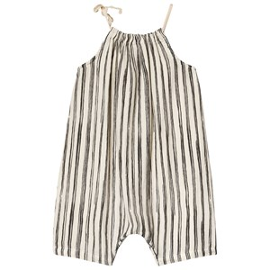 Image of Little Creative Factory Bamboo Stripe Romper Black/White 12 months (3125308947)