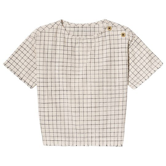 Little Creative Factory Grid Print Tateyoko Top Black/Cream CHECKED