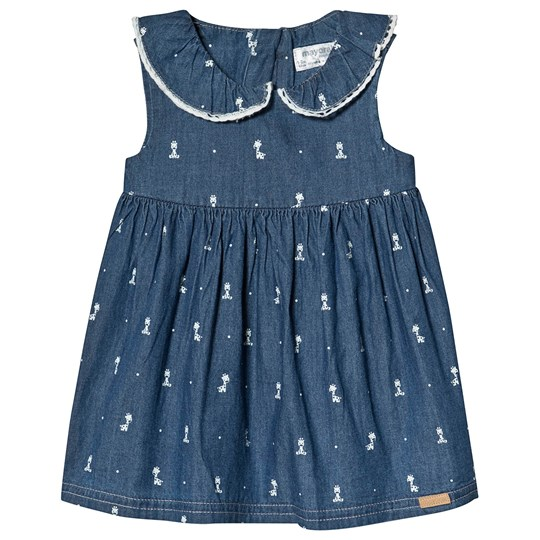 28c86c174124 Mayoral - Giraffe Print Denim Dress Blue - Babyshop.com