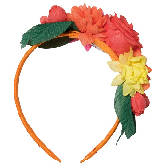 Mayoral Large Floral Headband Orange 30