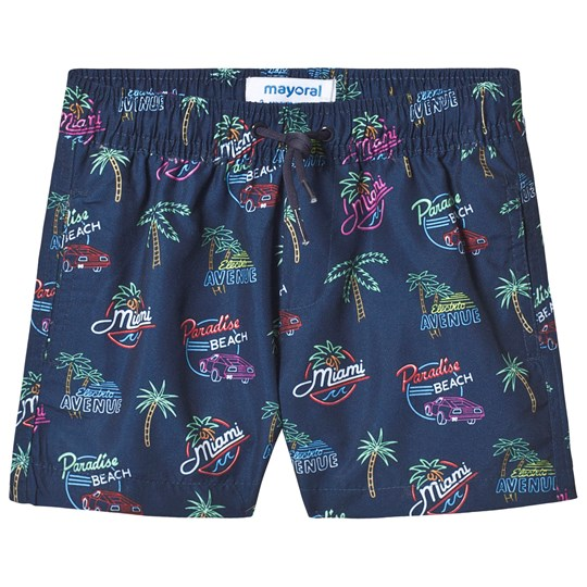 Mayoral Navy Patterned Swim Trunks 40