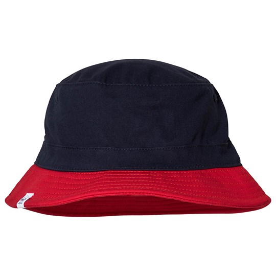 Herschel Lake Youth Bucket Hat S/M Navy/Red Navy Red