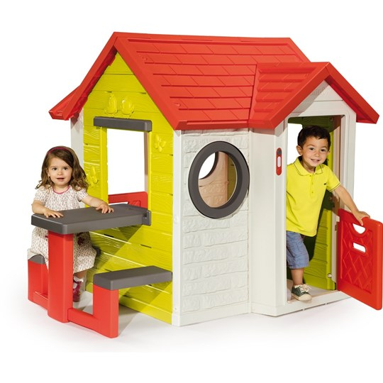 Smoby Lekhouse, My House med picknickbord Multi