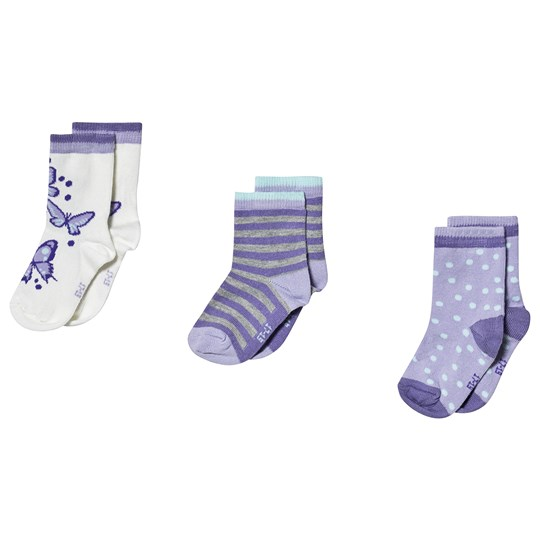 Melton Cloud Lilac Socks 3-Pack Cloud Lilac