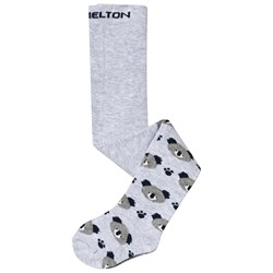 Melton Baby Koala Bear Tights Pearl Grey Melange