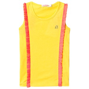 Image of Billieblush Yellow and Pink Tank Top with Pink Frill Trim 10 years (3125272211)