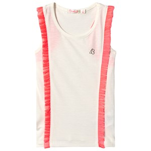 Image of Billieblush Off White Tank Top with Pink Frill Trim 10 years (3125272167)