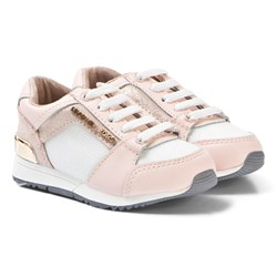 Michael Kors Mesh Sneakers White and Pink