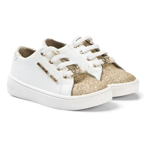 Image of Michael Kors Glitter Sneakers White and Gold 23 (UK 6) (3125277407)
