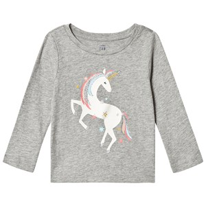 Image of GAP Graphic Long Sleeve Tee Grey 3 år (3125319491)