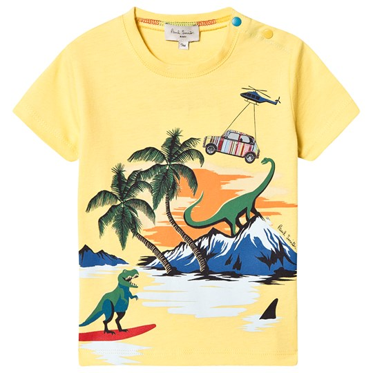 Paul Smith Junior Dino Island Print Tee Yellow 724
