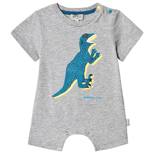 Paul Smith Junior Dino Print Romper Grå 240
