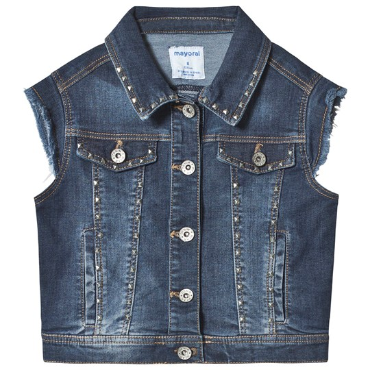 Mayoral Ärmlös Denim Jacka Dark Wash 15
