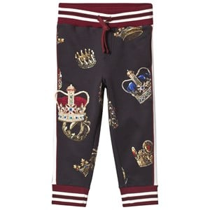 Image of Dolce & Gabbana Black Crest Applique Sweatpants 10 years (3125321165)