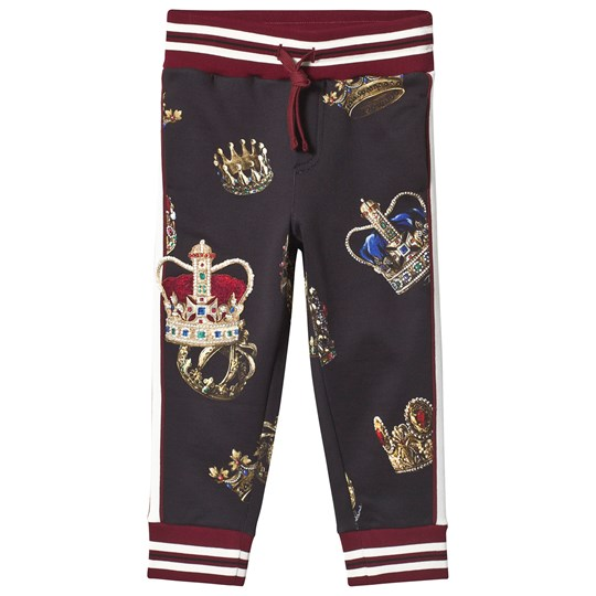 Dolce & Gabbana Black Crest Applique Sweatpants HNV93