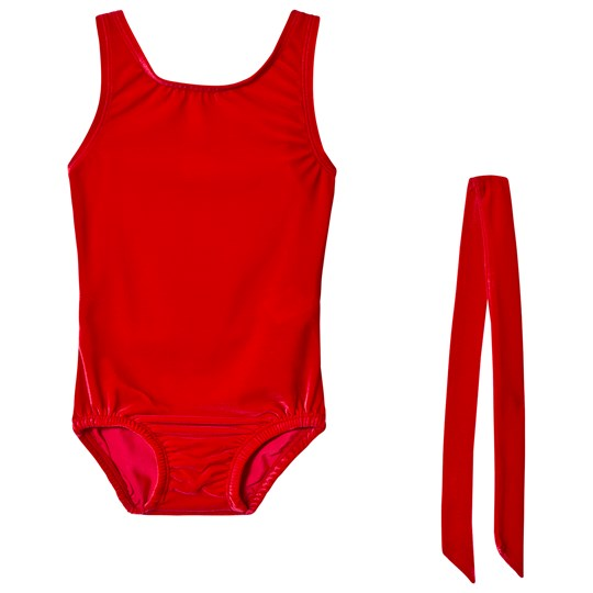 Bloch Red Basic Velvet Tank Leotard RDF