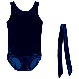 Image of Bloch Basic Velvet Tank Leotard Blue 12-14 years (3125249037)
