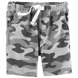 Carter's Camo Pull-On Terry Shorts Grey