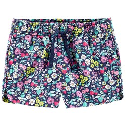 Carter's Floral Twill Shorts Navy