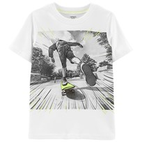 Carter s Skateboard Graphic T-shirt Vit IVORY ... f30f666f5c904