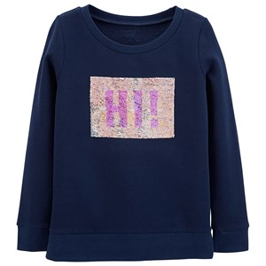 "Image of Carter""s Flip Sequin Fleece Sweatshirt Navy 6 år' (1327971)"