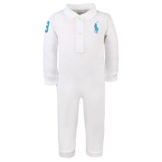 Ralph Lauren Big PP Polo Coverall White White