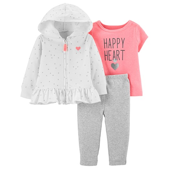 Carter's 3-Piece Heart Cardigan Set Pink PINK (650)