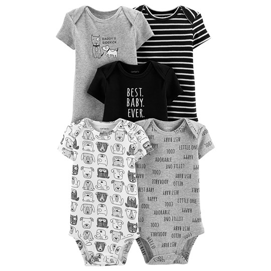 Carter's 5-Pack Bear Baby Body Grå PRINT (969)