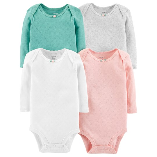 Carter's 4-Pack Heart Baby Bodies Pink Mix ASSORTED (998)