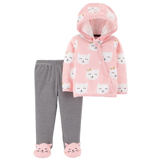 Carter's 2-Piece Cat Cardigan and Pants Pink PINK (650)
