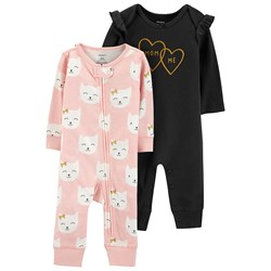 Carter's 2-Pack Cat One-Pieces Pink/Black