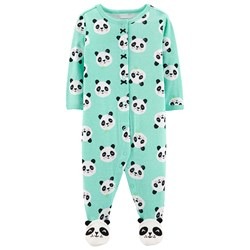 Carter's Panda Snap Footed Baby Body Turquoise