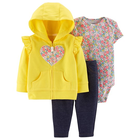 Carter's 3-Piece Heart Little Jacket Set Yellow YELLOW (700)