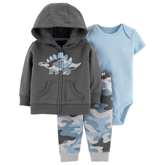 Carter's 3-Piece Dino Little Jacket Set Grey GRAY (020)