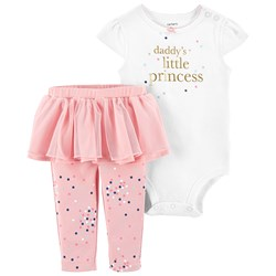 Carter's 2-Piece Princess Body & Tutu Pants Set Pink/White